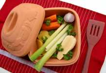 Clay Pot with Veggies - Vegetarian - and Vegan - Diet Lowers Cholesterol